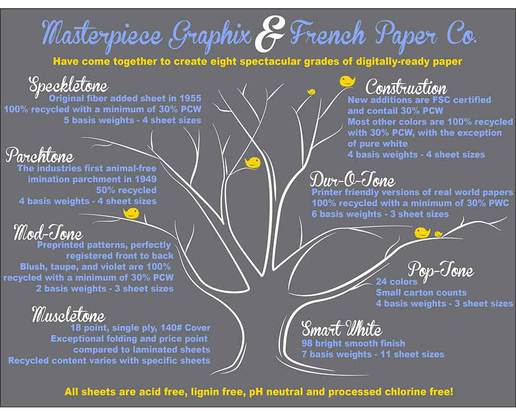 French Paper Types Infographic
