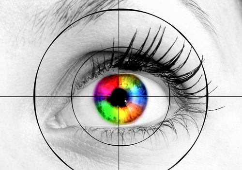 Colourful,Human,Eye,And,Target