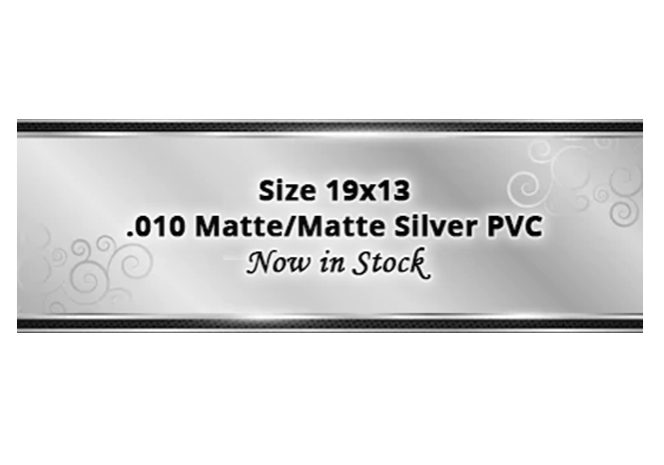 matte silver pvc website